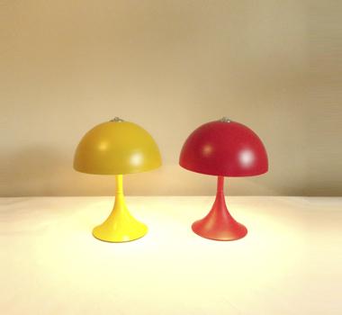Lámpara de mesa ROJA