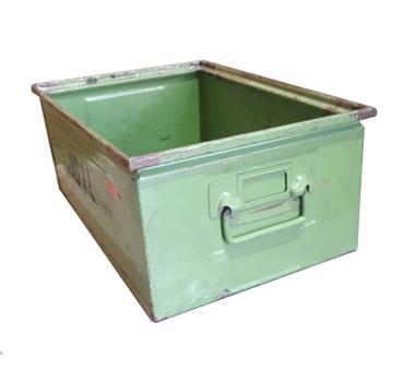 Cajón metálico verde