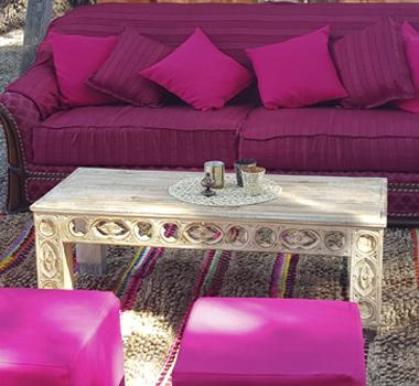 Mesa madera baja natural