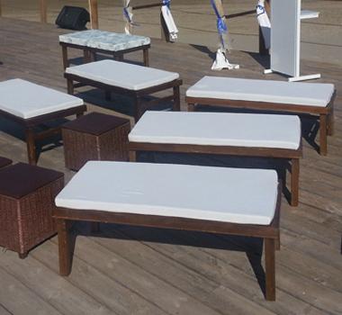 Banqueta línea madera 3 cuerpos
