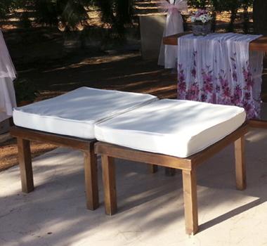 Banqueta línea madera 1 cuerpo